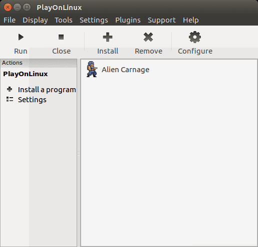 play installed game in playonlinux