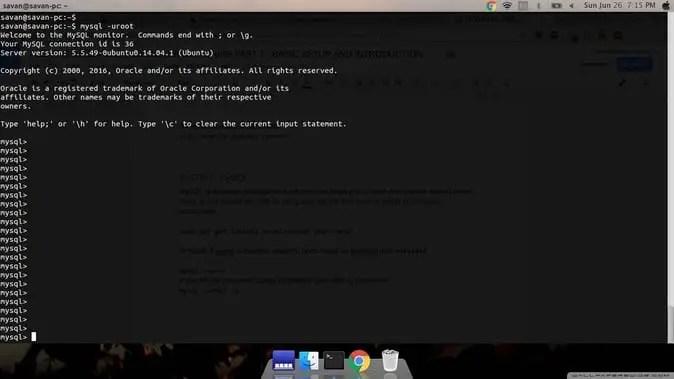 setup mysql for setup web server