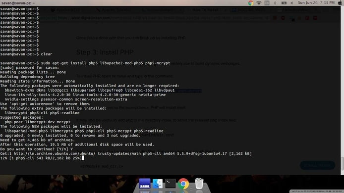 setup php5-sqlite website