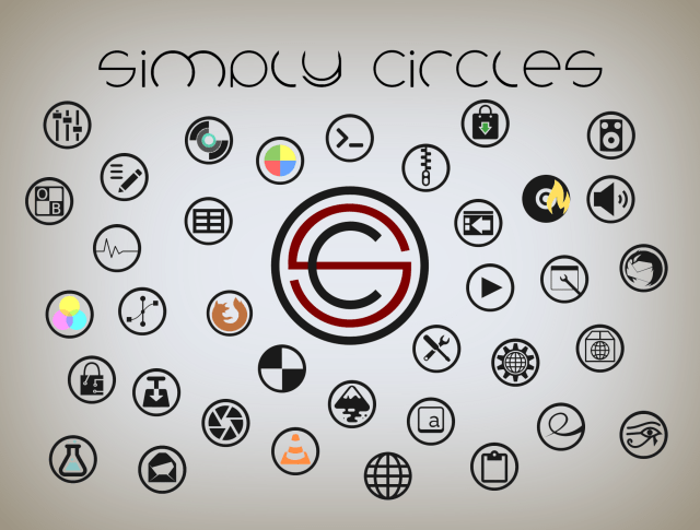 simply circles gnome theme