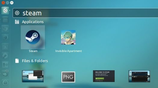 start steam from dash or start menu to play hd games