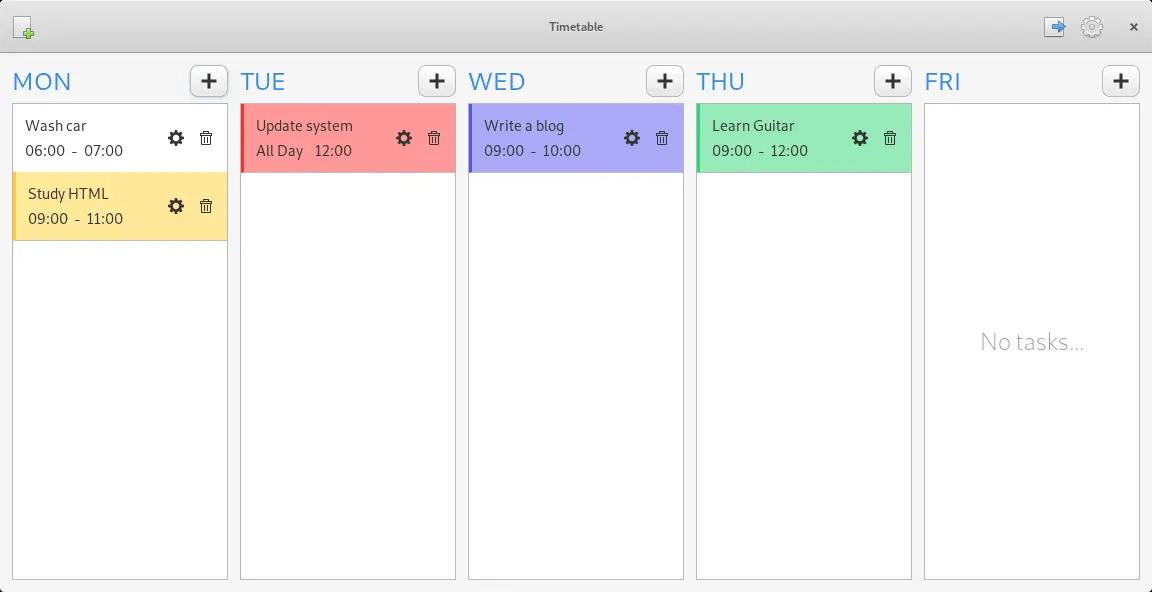 timetable app schedule
