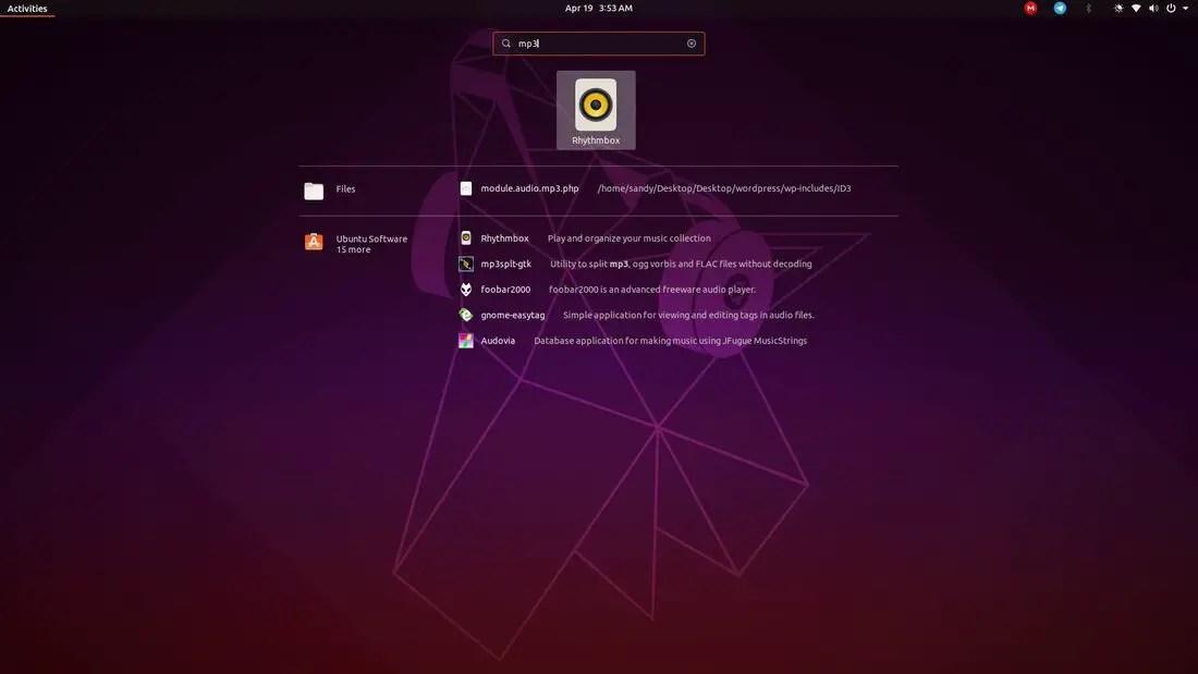 ubuntu 19.04 search files