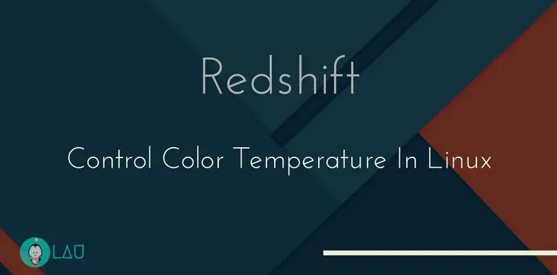 Redshift Control Display Color Temperature