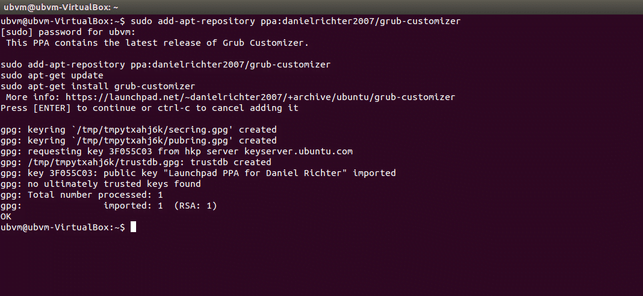 add grub-customizer repository