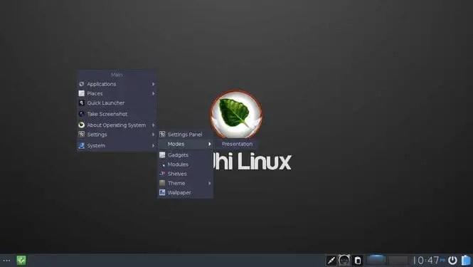 bodhi linux moksha linux desktop environment