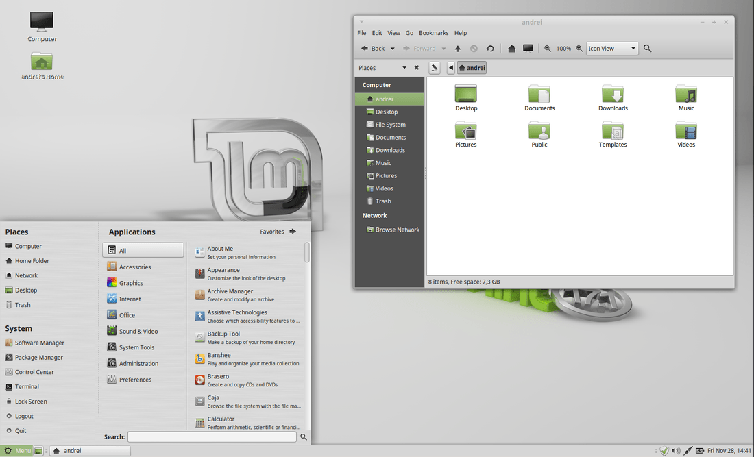changes in linux mint 17.1 mate