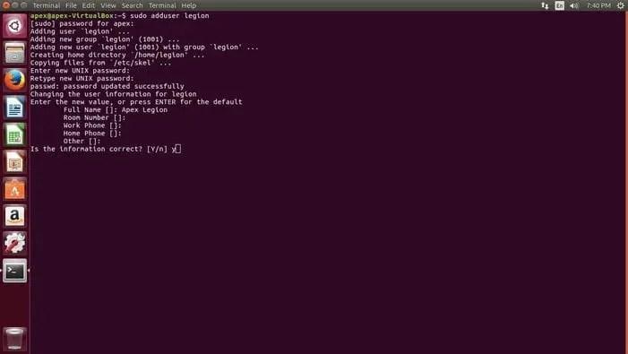 create user password in ubuntu cli