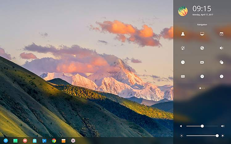deepin 15.4 side pane with notifications