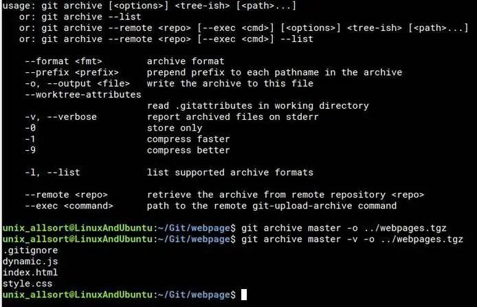 git archive command