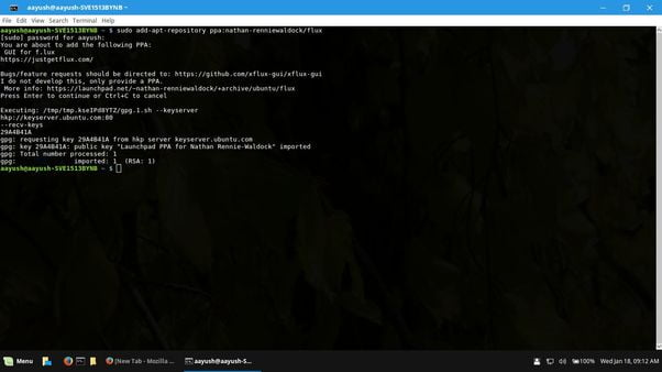 install f.lux in linux mint