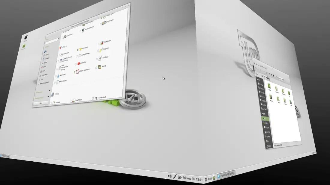linux mint 17.1 compiz cubic effect