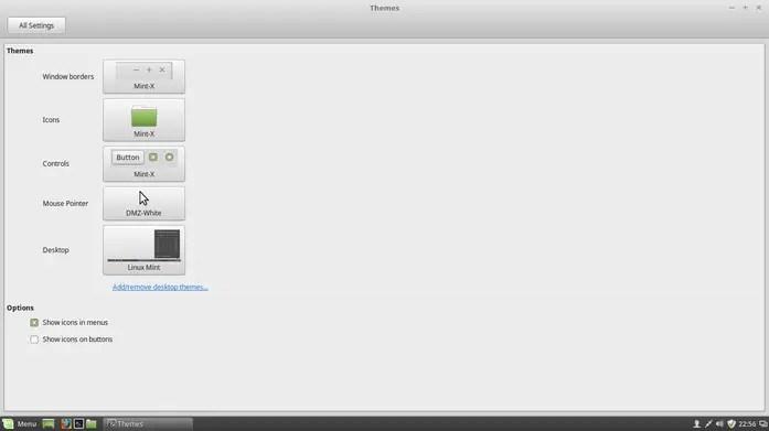 linux mint debian interface