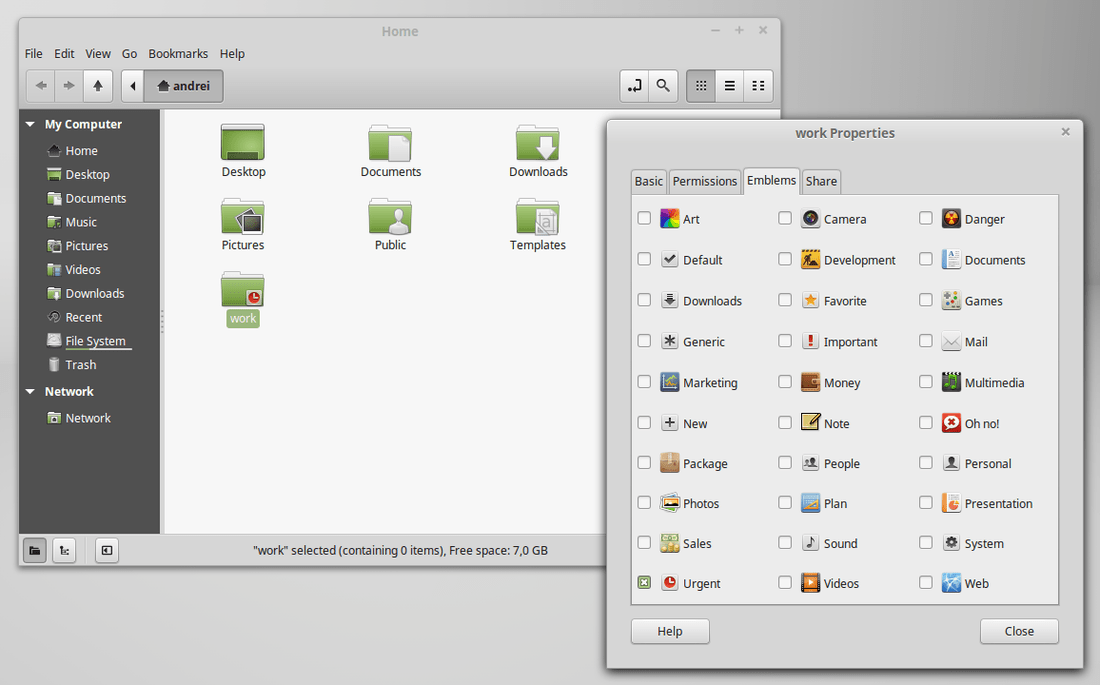 linux mint rebecca nemo emblems extension