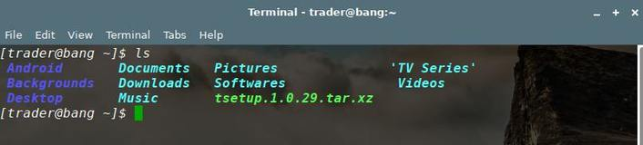 ls linux command current directory