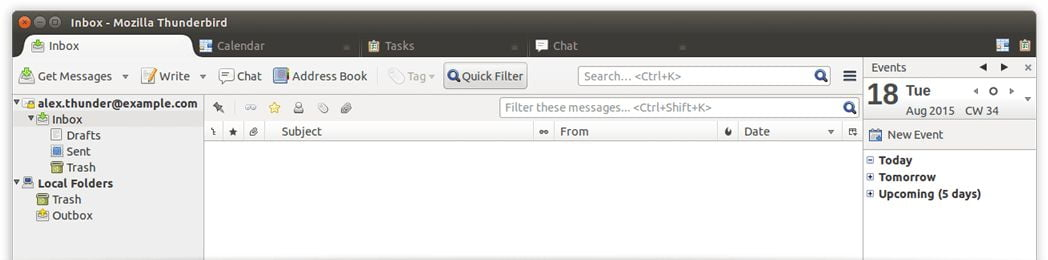 mozilla thunderbird email client for linux
