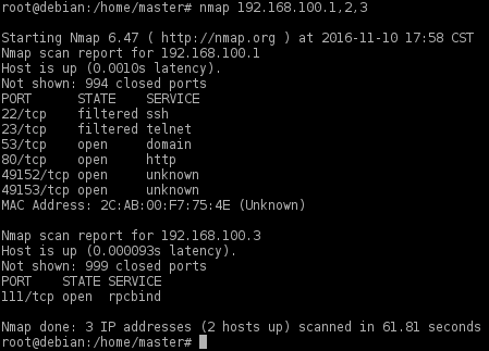 nmap working with subnet