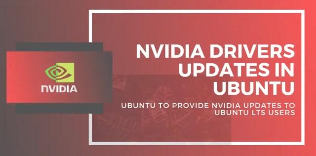 nvidia drivers updates in ubuntu
