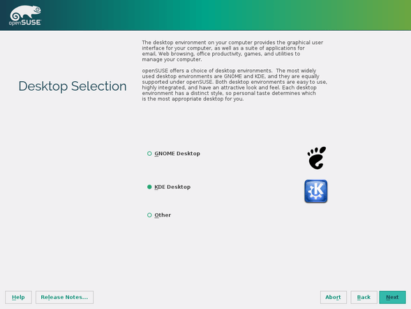 openSUSE desktop desktop environments