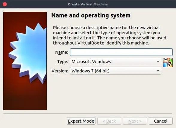 oracle virtualbox name windows 10