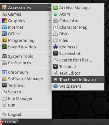 start touchpad-indicator