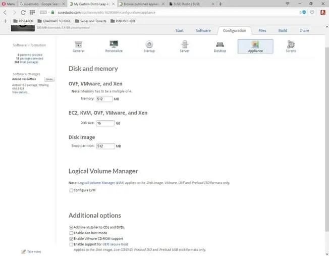 susestudio configure your linux distro