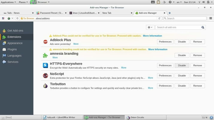 tor browser in tails linux