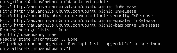 ubuntu apt update