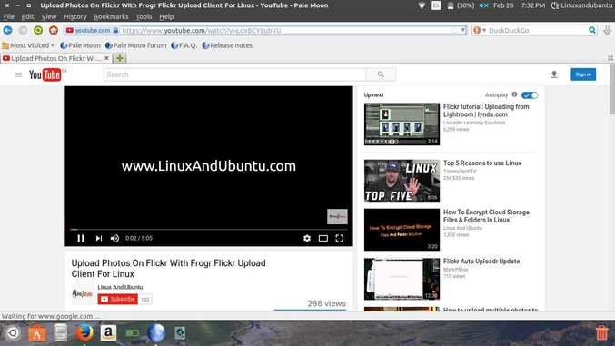 visit linuxandubuntu youtube channel in pale moon