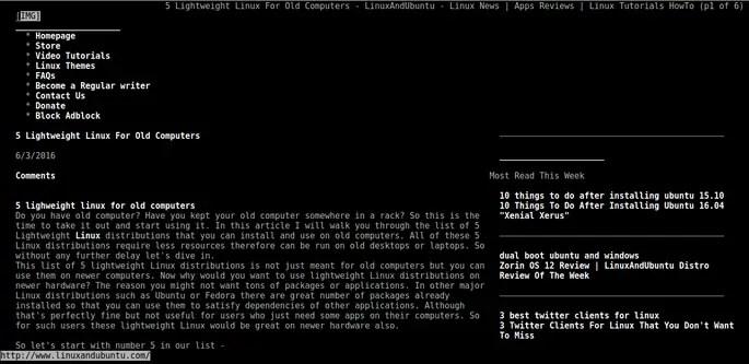visit website links command line browser