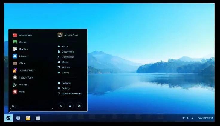 zorin os windows 7 mode