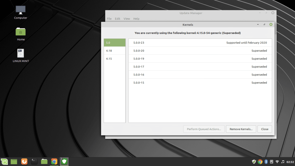 install or remove kernels linux mint