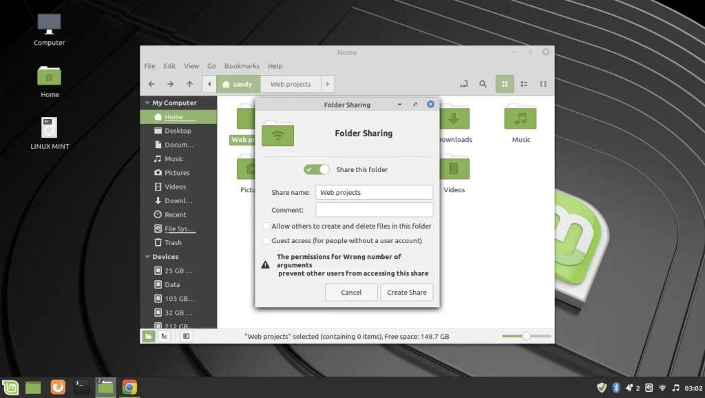 samba share folder