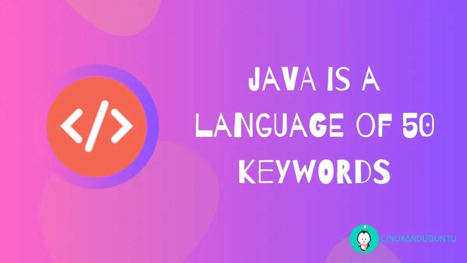java is a language of keywords