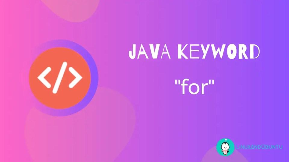 java keyword for
