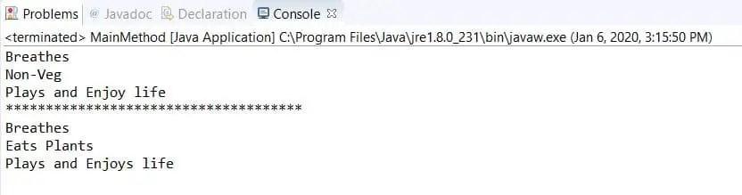 Result of Interface Program