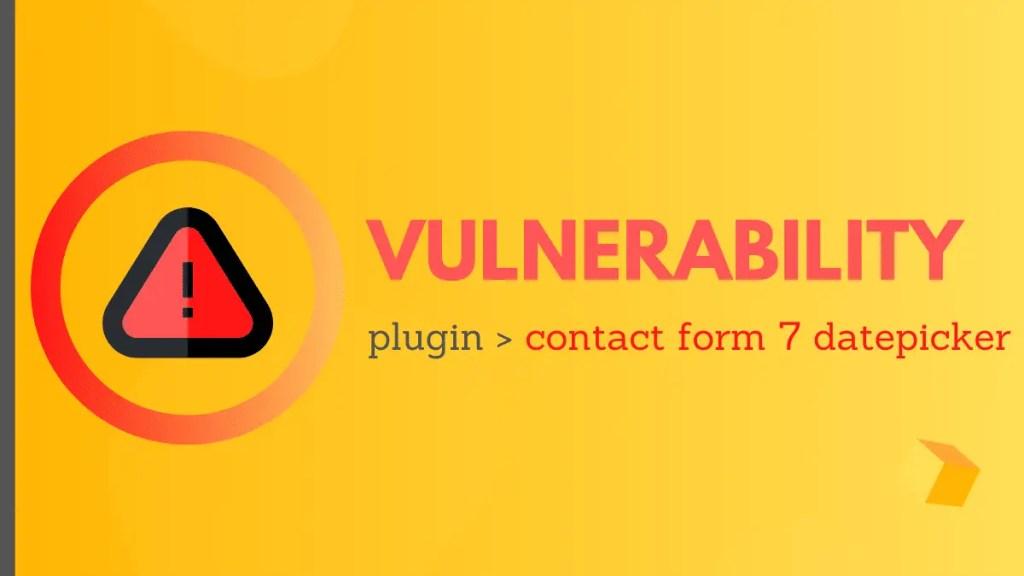 Contact Form Datepicker Vulnerability