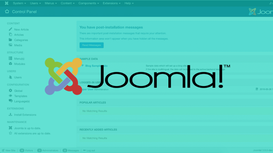 Joomla Team Disclosed Data Breach Occurred Last Week