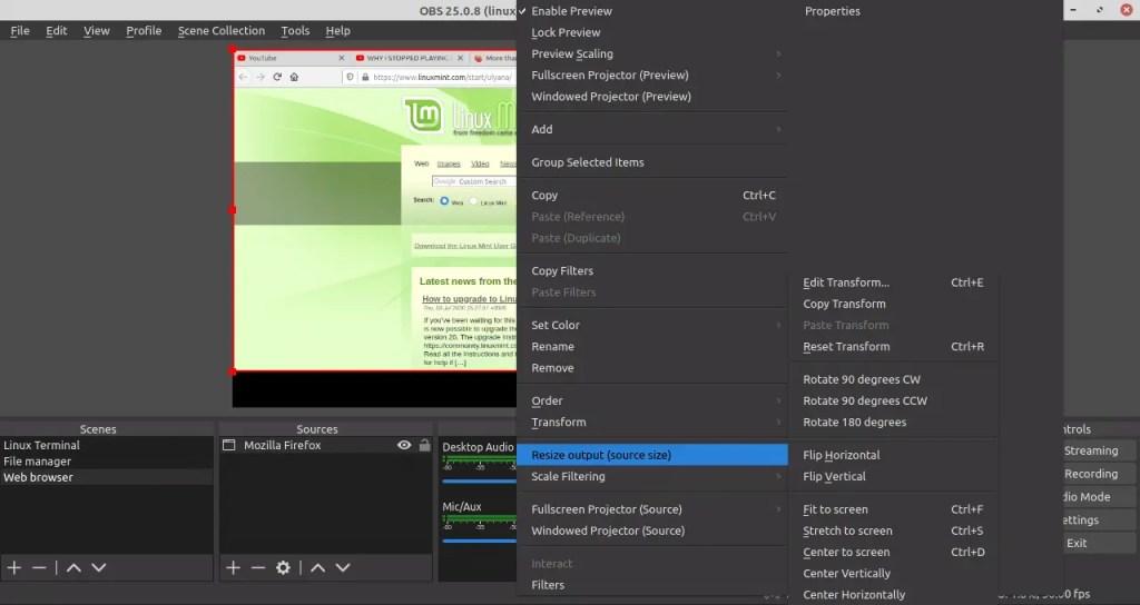 resize output window