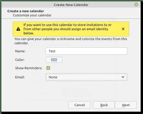 Thunderbird customize calendar