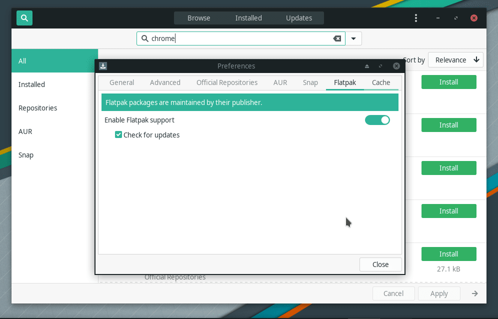 Enable Flatpak in Manjaro