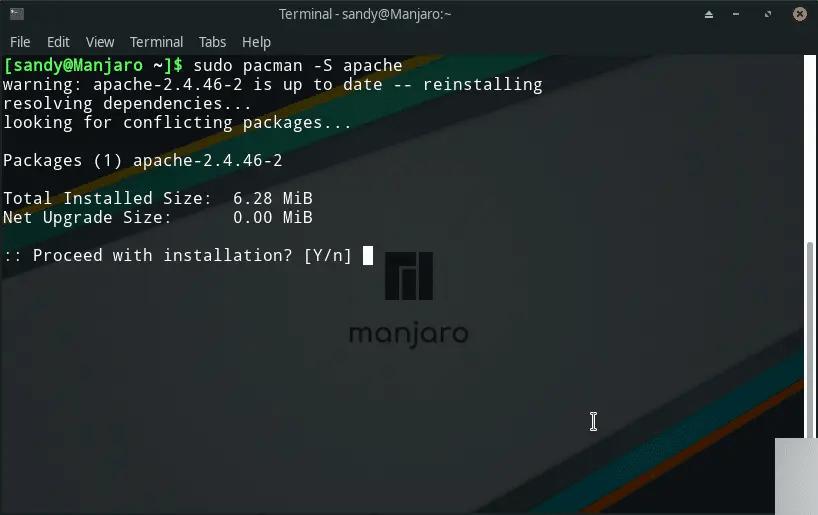 Install Apache on Manjaro CLI