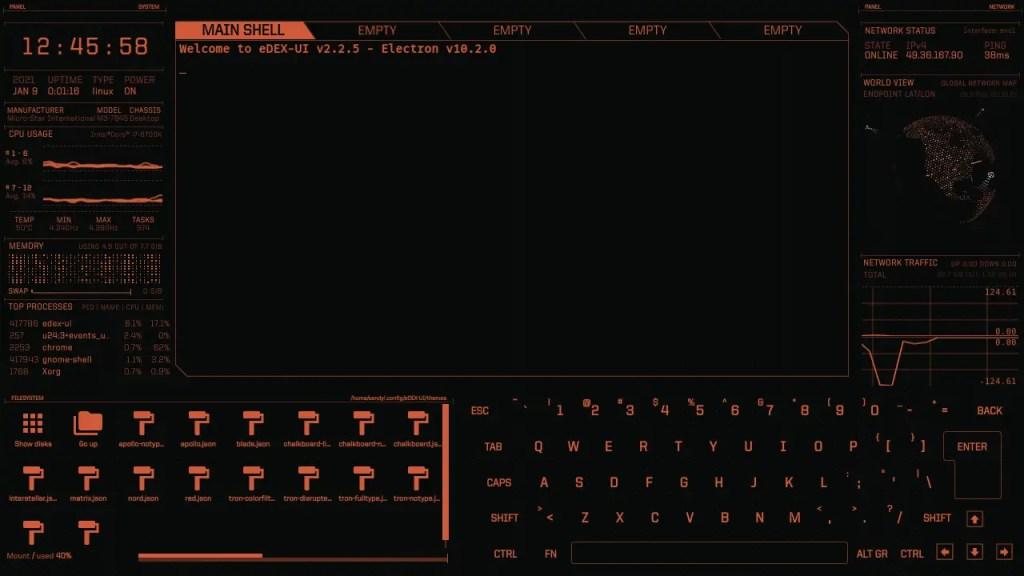 eDEX UI apollo notype