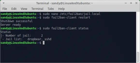 Secure Linux Server - Restart failban