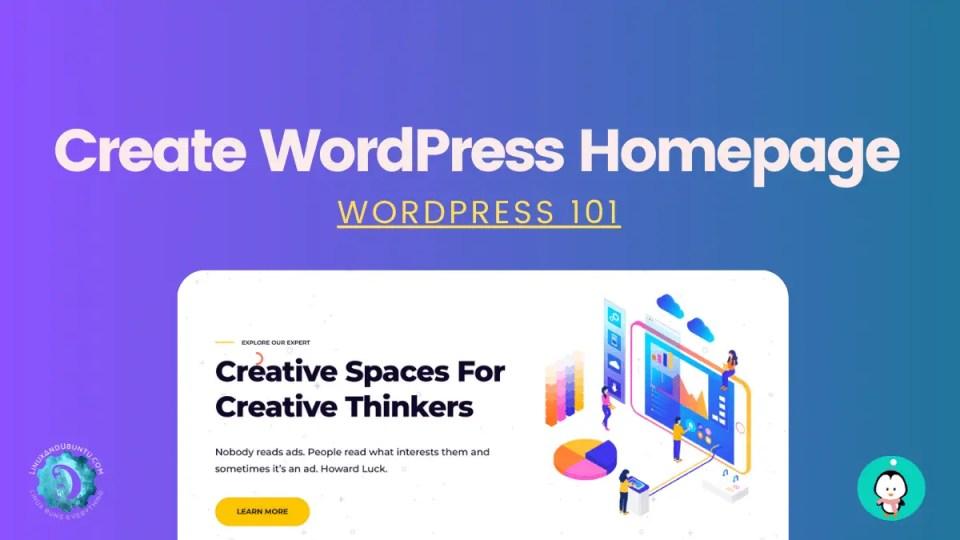 wordpress homepage setting
