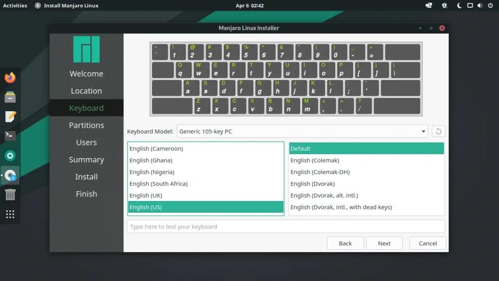 Select keyboard