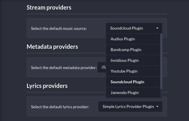 Nuclear stream providers