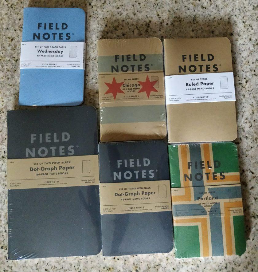 Field Notes brand pocket notebooks