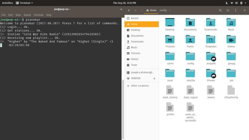 Pop!_OS Files and Terminal