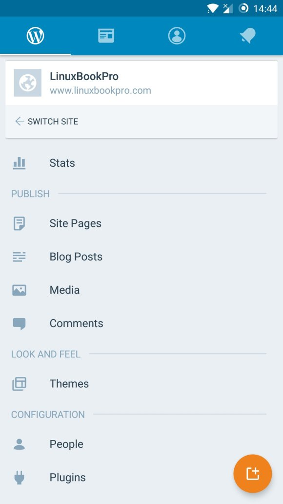 Open the WordPress app